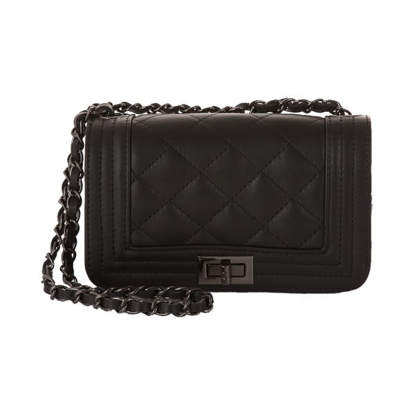 Černá kožená kabelka Andrea Cardone Felisa