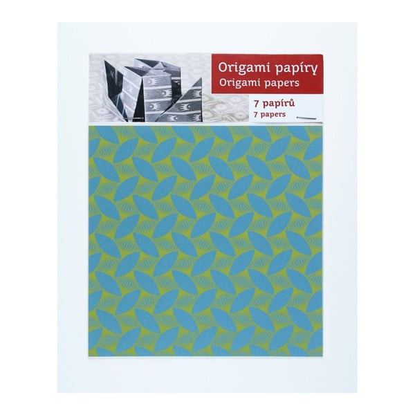 Žluto-modré  origami papíry Calico