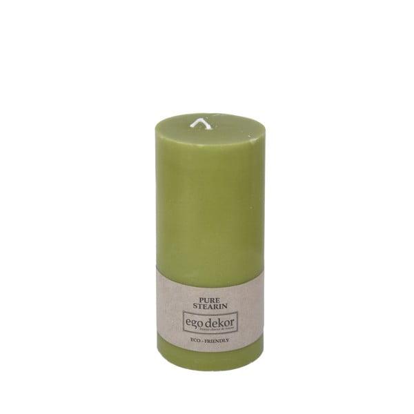Zelená svíčka Baltic Candles Eco, výška 15cm