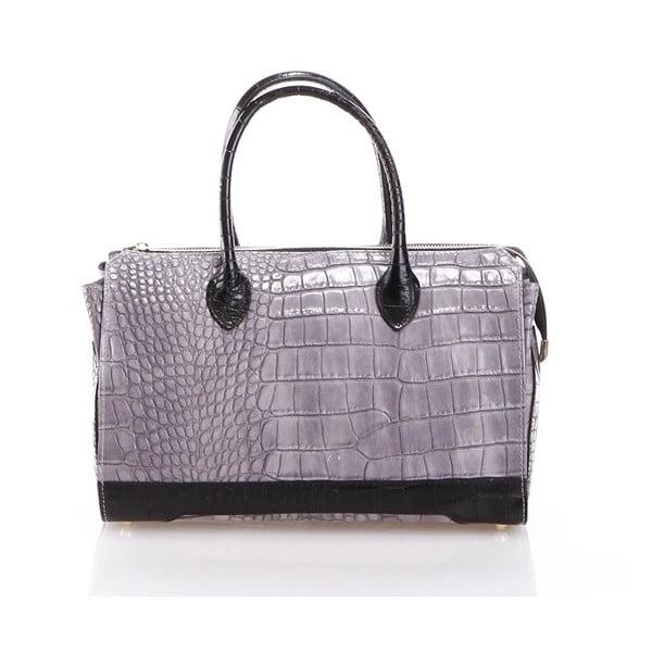 Kožená kabelka Livie, šedá