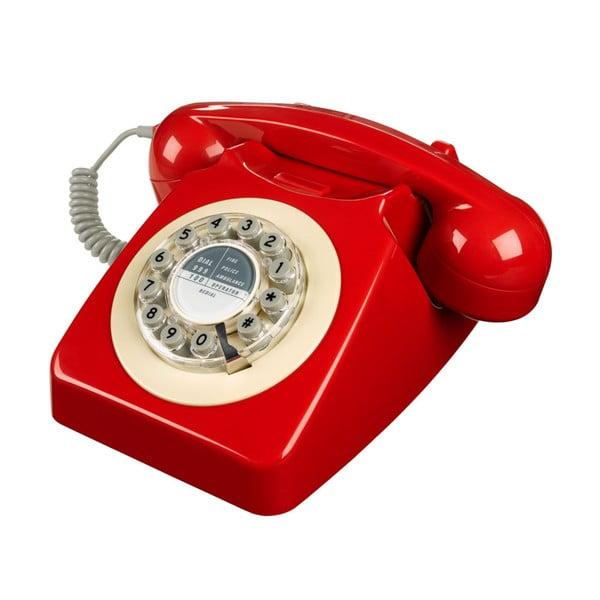 Retro funkční telefon Serie 746 Red