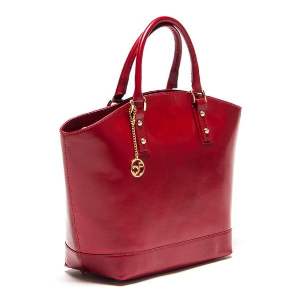 Kožená kabelka Carla Ferreri 351 Rosso