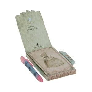 Set zápisníku s magnetickým zapínáním a pera Santoro London Mirabelle Grace