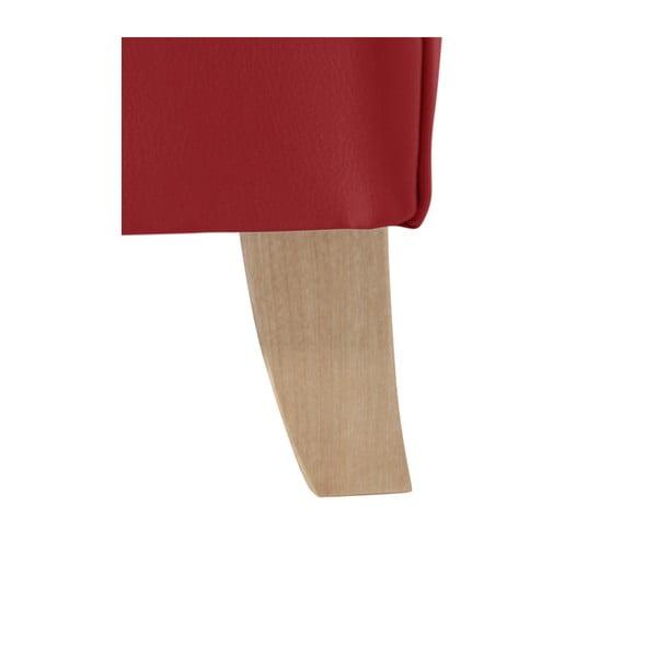 Červené koženkové křeslo ušák Max Winzer Bruno