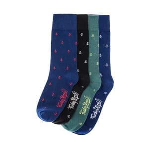 Sada 4 párů ponožek Funky Steps Mana, univerzální velikost