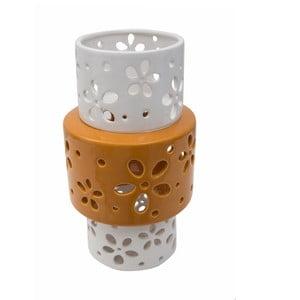 Oranžovobílá porcelánová váza Mauro Ferretti Ring