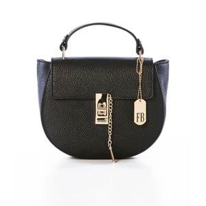 Černá kabelka z pravé kůže Federica Bassi Kella