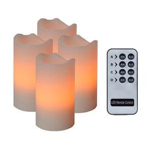 Sada 4 oranžových LED svíček Best Season Wachs