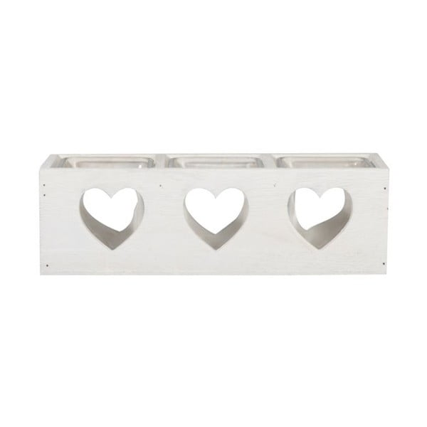 Svícen Trio Heart, 27x9x8 cm