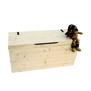 Truhla z bukového dřeva Valdomo Settle, délka73 cm
