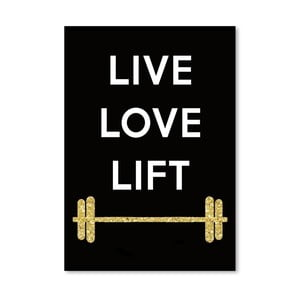Plakát Americanflat Live Love Lift, 30x42cm