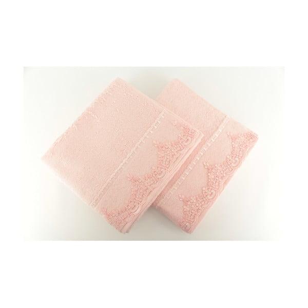 Sada 2 ručníků Lucas Pink, 50x90 cm