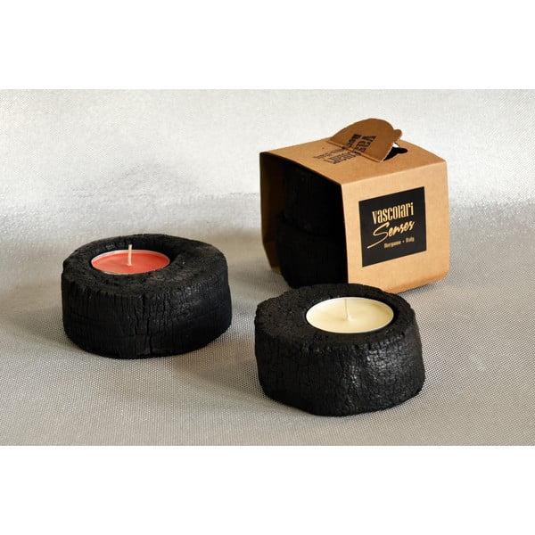 Palmové stojánky na svíčky Legno, 2 ks