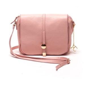 Kožená kabelka Ariela, růžová