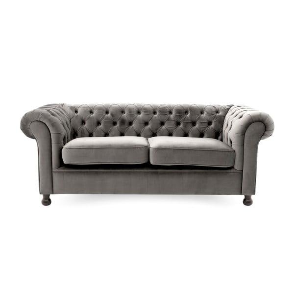 Canapea cu 3 locuri Vivonita Chesterfield, gri