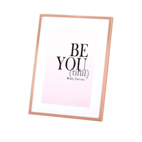 Fotorám v barvě mědi Be You, 13x18 cm