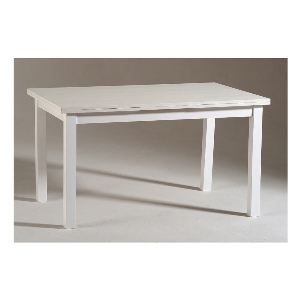Bílý dřevěný rozkládací jídelní stůl Castagnetti Wyatt, 120 cm