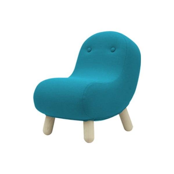 Turkusowy fotel Softline Bob Felt Melange Turquoise