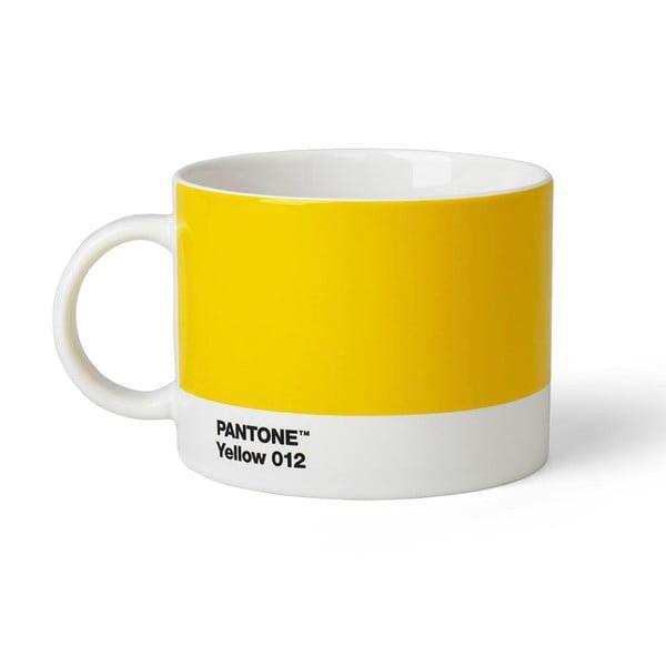 Žlutý hrnek na čaj Pantone 012, 475 ml