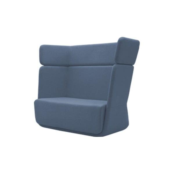 Niebieski fotel Softline Basket Vision Blue