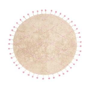 Bavlněný koberec s růžovými detaily Nattiot Tanvi