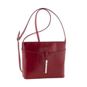 Vínová kožená kabelka Tina Panicucci Rundo