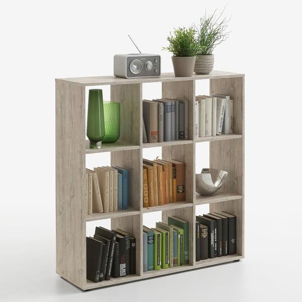 Knihovna v dekoru dubového dřeva 13Casa Mega II