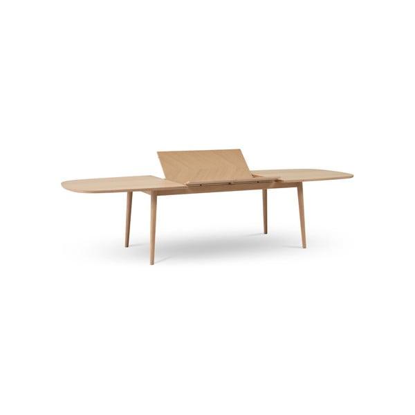 Světle hnědý rozkládací jídelní stůl WOOD AND VISION Bow, 210 x 105 cm