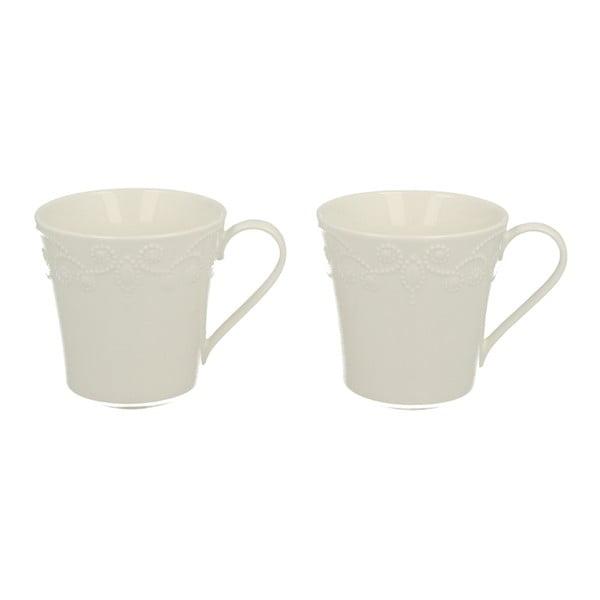 Sada 2 hrnků s podšálkem z porcelánu Duo Gift Casette, 80 ml