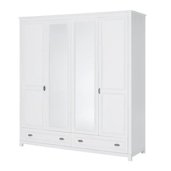 Madison fehér 4 ajtós ruhásszekrény - Szynaka Meble