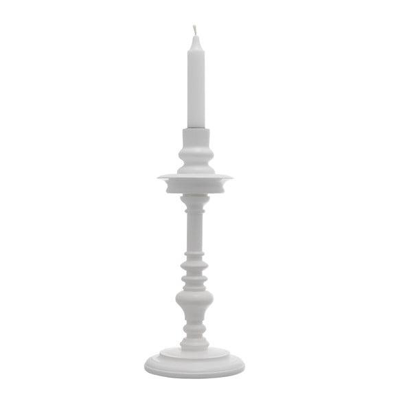 Set dvou stojanů na svíčku, bílé, 30 cm