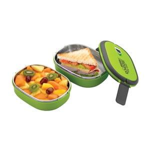 Zelená dvojitá miska na oběd Pioneer Lunchbox