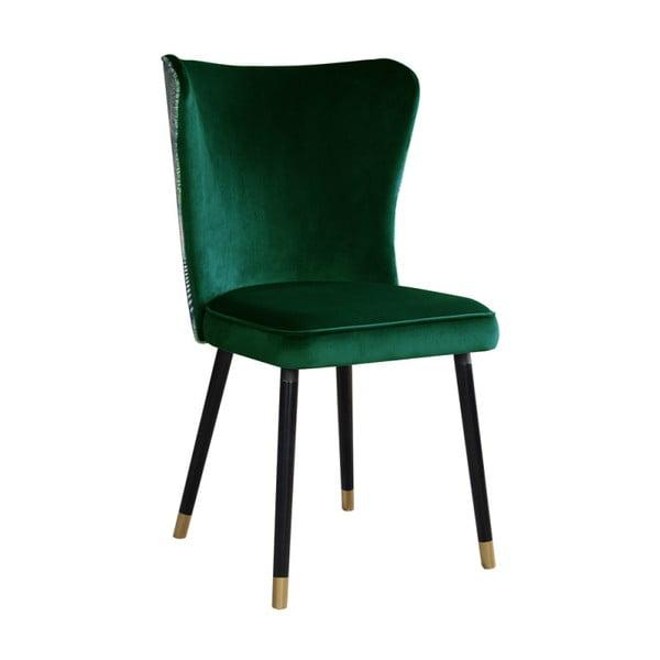 Zelená jídelní židle s detaily ve zlaté barvě JohnsonStyle Odette Eden