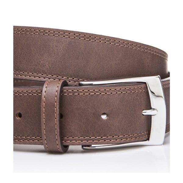 Kožený pásek Elegant Brown, 125 cm