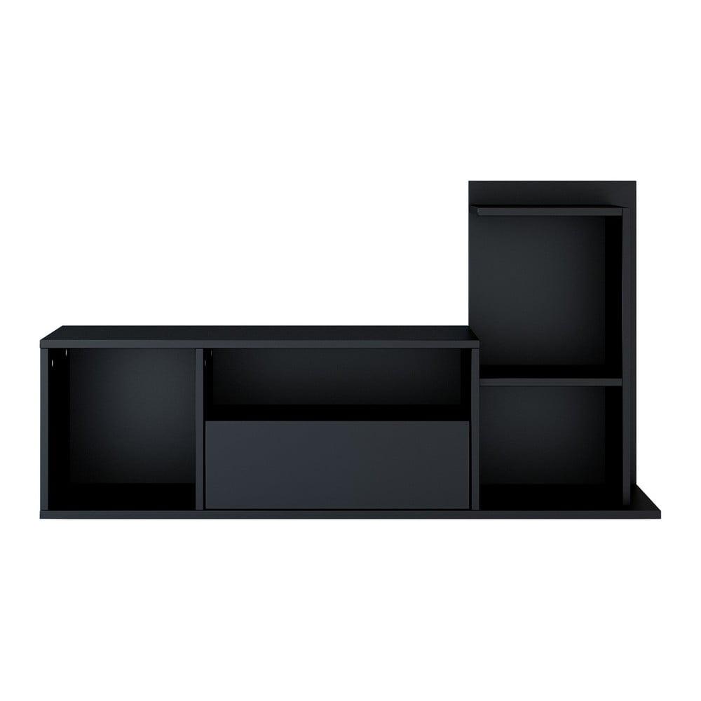 Černý TV stolek Sumatra, šířka 120 cm