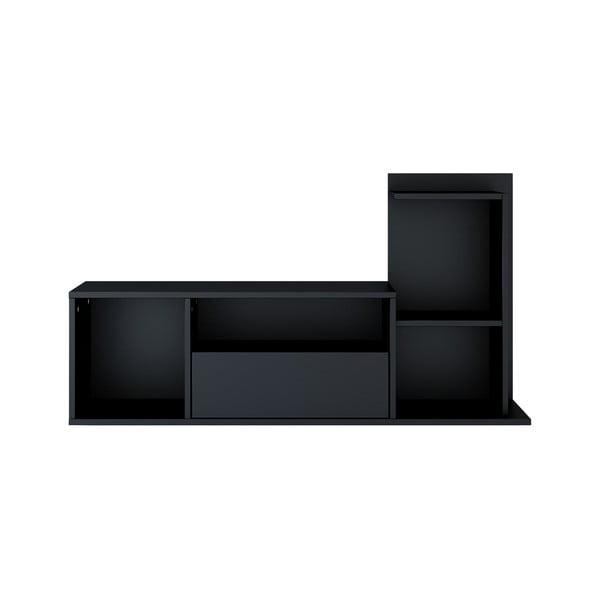 Czarna szafka pod TV Sumatra, szer. 120 cm