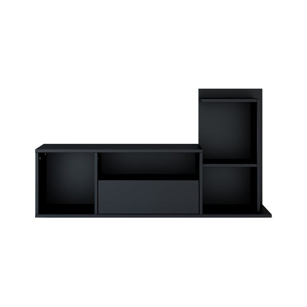 Černý TV stolek Sumatra, šířka120cm