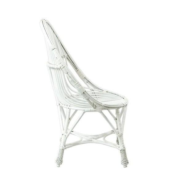 Proutěné křeslo Willow, bílé
