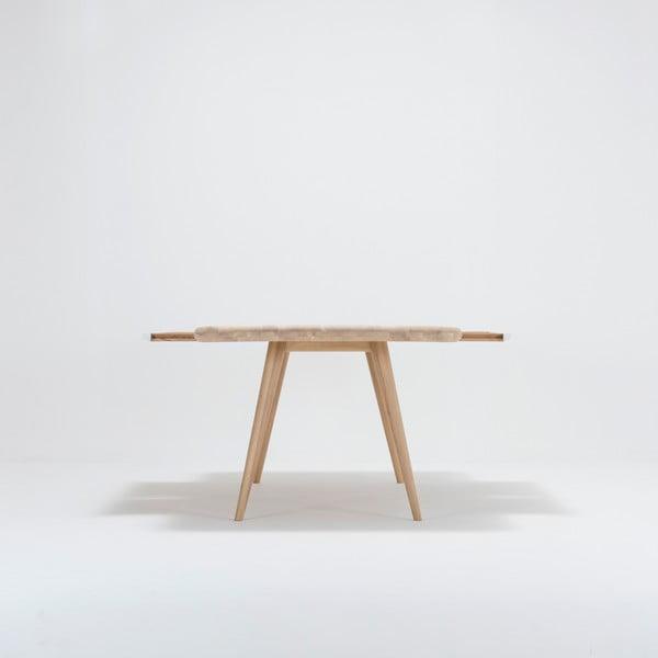 Jídelní stůl s konstrukcí z masivního dubového dřeva se zásuvkou Gazzda Ena, 200x100cm