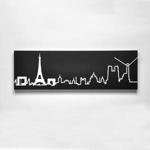Nástěnné hodiny Skyline Parigi, černé