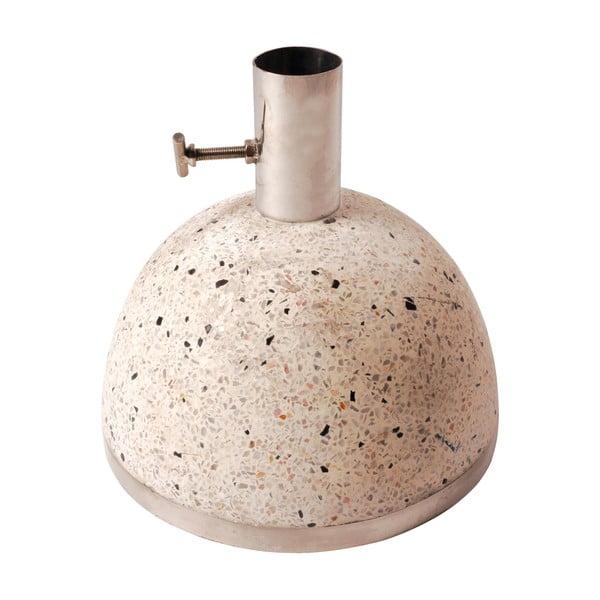 Suport din granit pentru umbrelă de soare Esschert Design, greutate 11,5 kg, bej