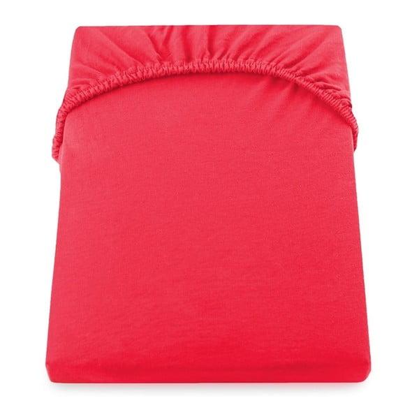 Cearșaf de pat cu elastic DecoKing Nephrite Red, 100-120 cm, roșu