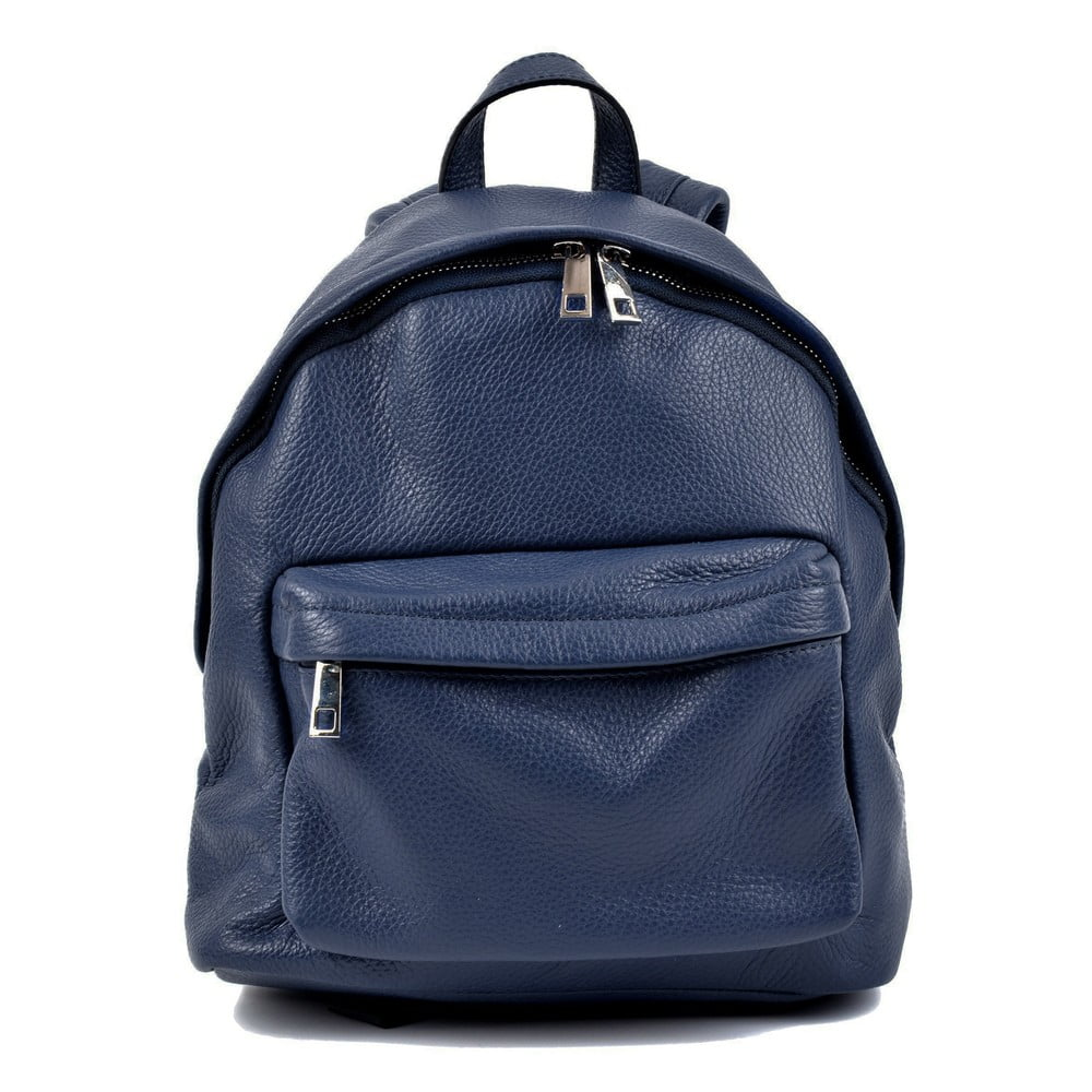 Modrý kožený batoh Roberta M Amalfi