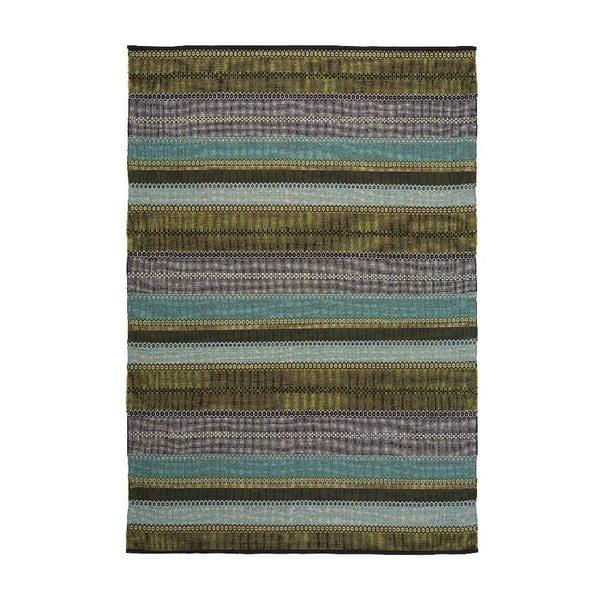 Bavlněný koberec Ida Green, 80x200 cm