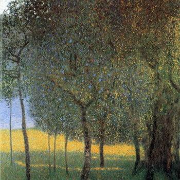 Reproducere tablou Gustav Klimt - Fruit Trees, 45 x 45 cm