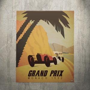 Cedule Monaco 1932, 56x45 cm