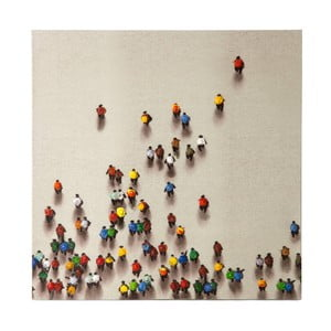 Ručně malovaný obraz Vivorum Rainbow People, 90x90cm