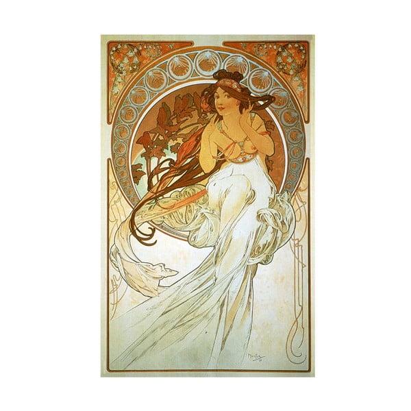 Reprodukce obrazu Music od Alfonse Muchy, 40 x 60 cm