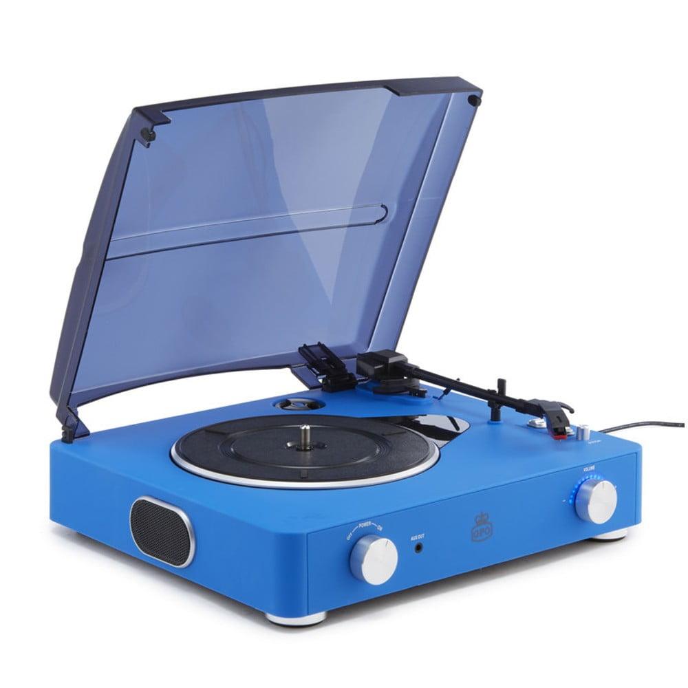 Modrý gramofon GPO Stylo II Cobalt Blue