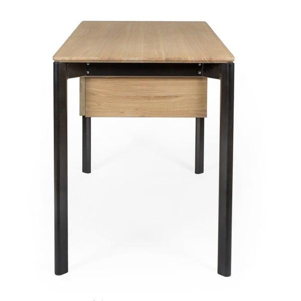 Pracovní stůl z borovicového a dubového dřeva se zásuvkou Askala Search